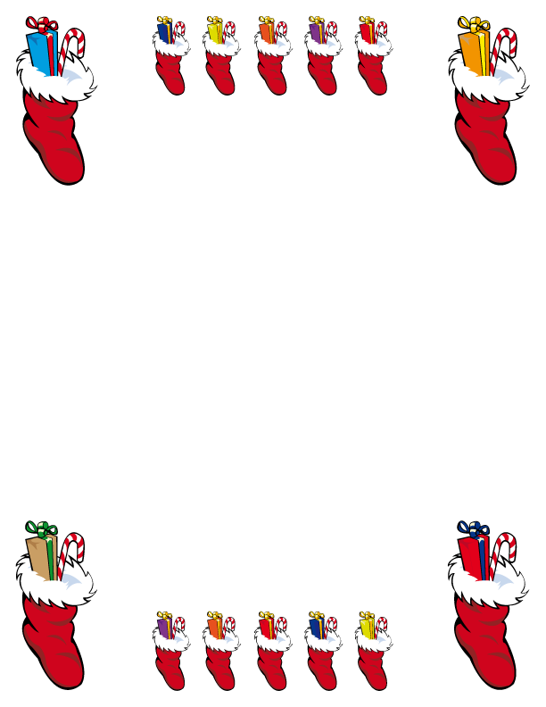 image regarding Printable Christmas Borders referred to as Absolutely free Printable Borders - Family vacation Borders